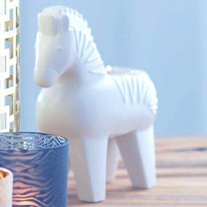 New PartyLite Jonathan Adler Zebra Tealight Holder